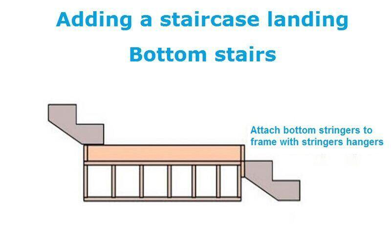 Adding a staircase landing Bottom stairs